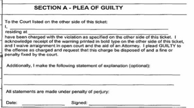 Writing A Not Guilty Letter For Speeding Ticket