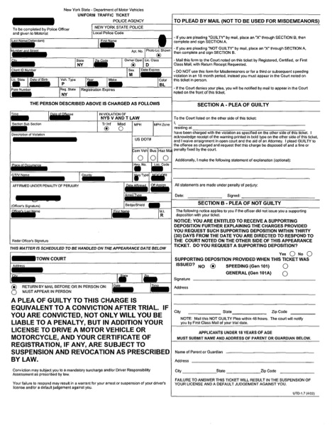 explanation of the traffic summons suffolk county traffic ticket lawyer palumbo associates. Black Bedroom Furniture Sets. Home Design Ideas